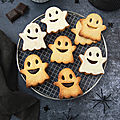 Biscuits fantômes fourrés au chocolat #halloween