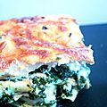 Lasagnes gourmandes aux épinards, chèvre & pignons