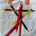 Porte crayons total look crayons!