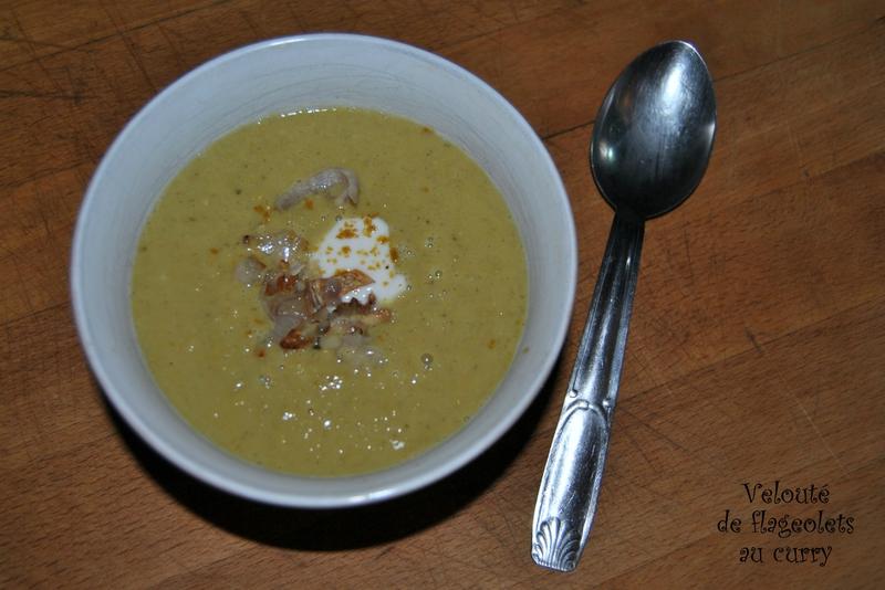 Velouté de flageolets au curry