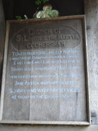 godmersham, l'église où venait jane austen