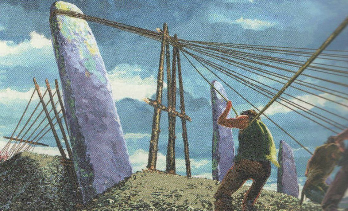 site mégalithique pierres droites