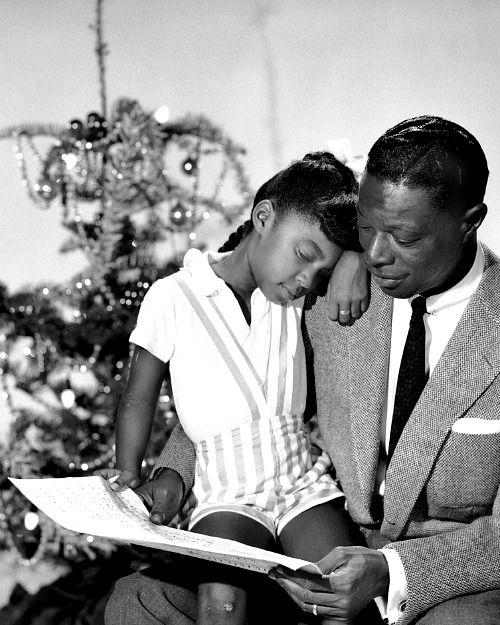 Nat King Cole with his daughter Natalie, c