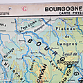 Collection ... carte bourgogne - jura / alpes * economique et physique