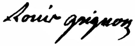 Signature de Louis Grignon