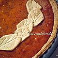 Pumpkin pie(ou tarte au potiron et aux épices)