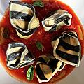 C'est lundi c'est raviolis – tortelloni rayés aux anchois et aux citrons