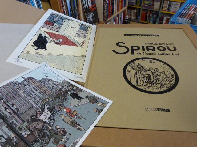 Tirage de tête de Spirou ou l'espoir malgré tout par E. BRAVO, 400ex, éd. Black&White , 185€