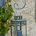 Décorations de jardin en métal.