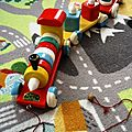 Train en bois Educalux vintage