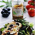 Tartinade de tomates vertes, chèvre et raisins muscat....