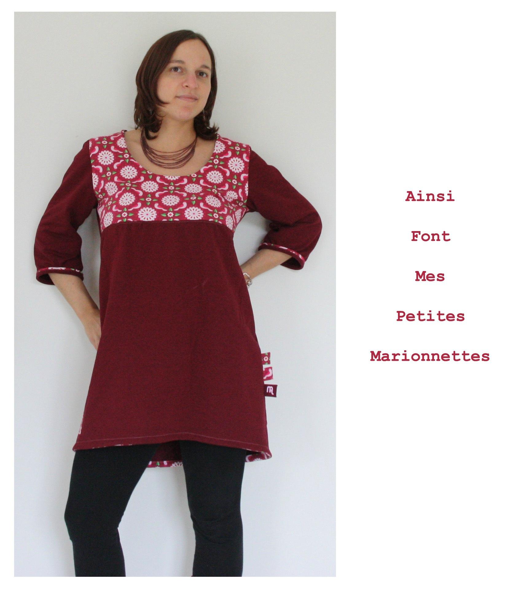 robe tunique rose colombe 6