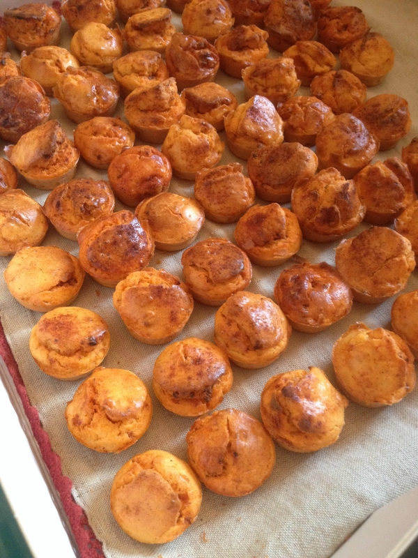 mini muffins chorizo