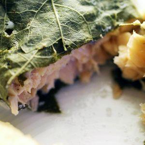saumon en papillote de vigne 3