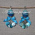 BO perle multicolore turquoise - 20 euros
