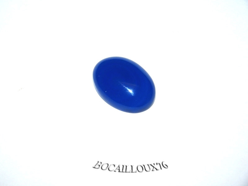 CABOCHON 13x18 AGATE Bleue 4 - Pour CREATION