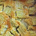 clafoutis légèrement vanillé à la rhubarbe