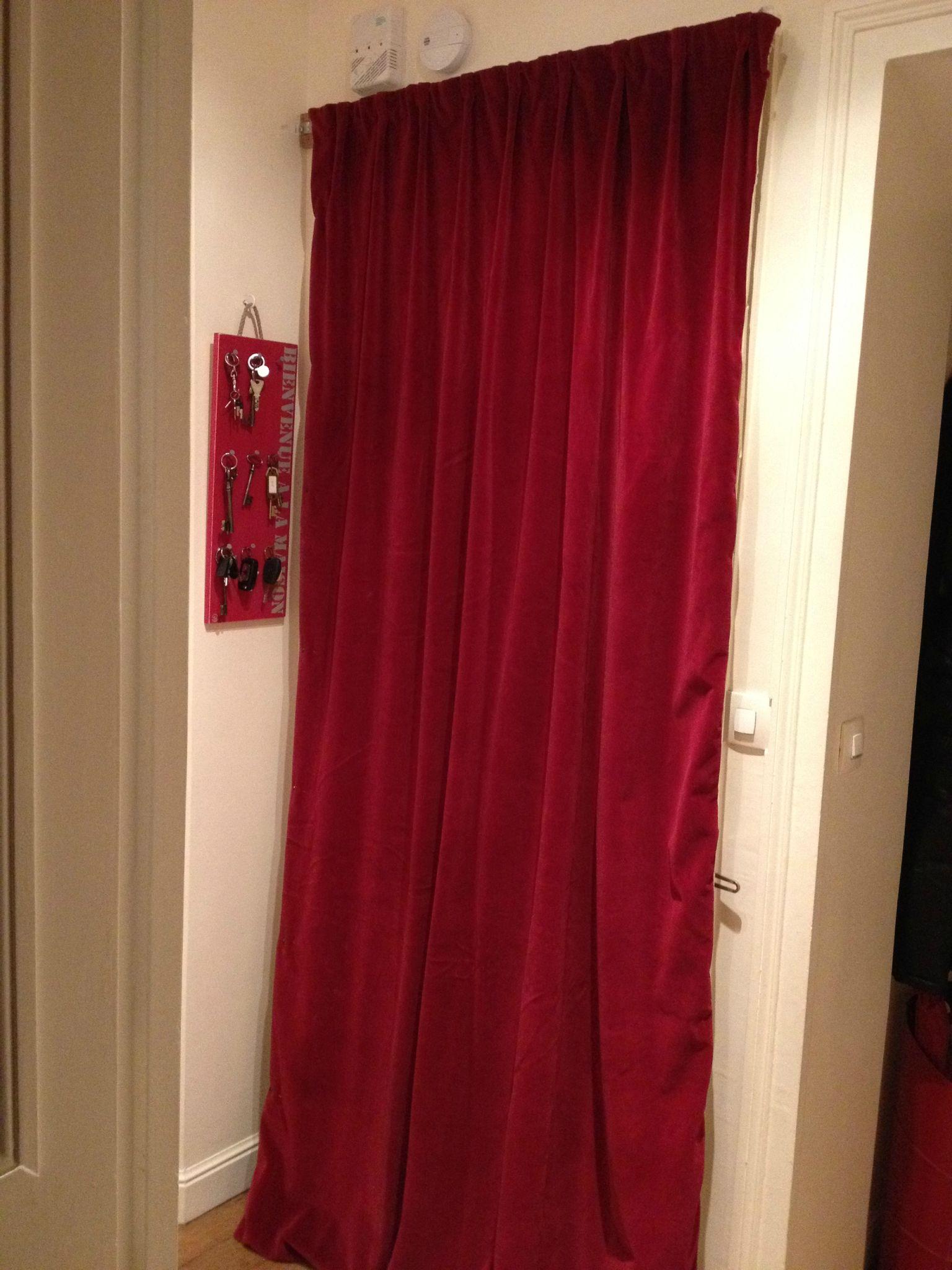 le rideau de porte de cl mentine l 39 atelier couture de l 39 enfant roi. Black Bedroom Furniture Sets. Home Design Ideas