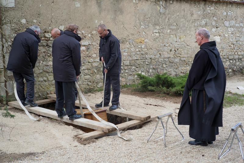 Jacques Breton, enterrement à Saint-Benoît