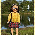 Jupe plissée écossaise et pull pour dana - pleated plaid skirt and sweater for dana
