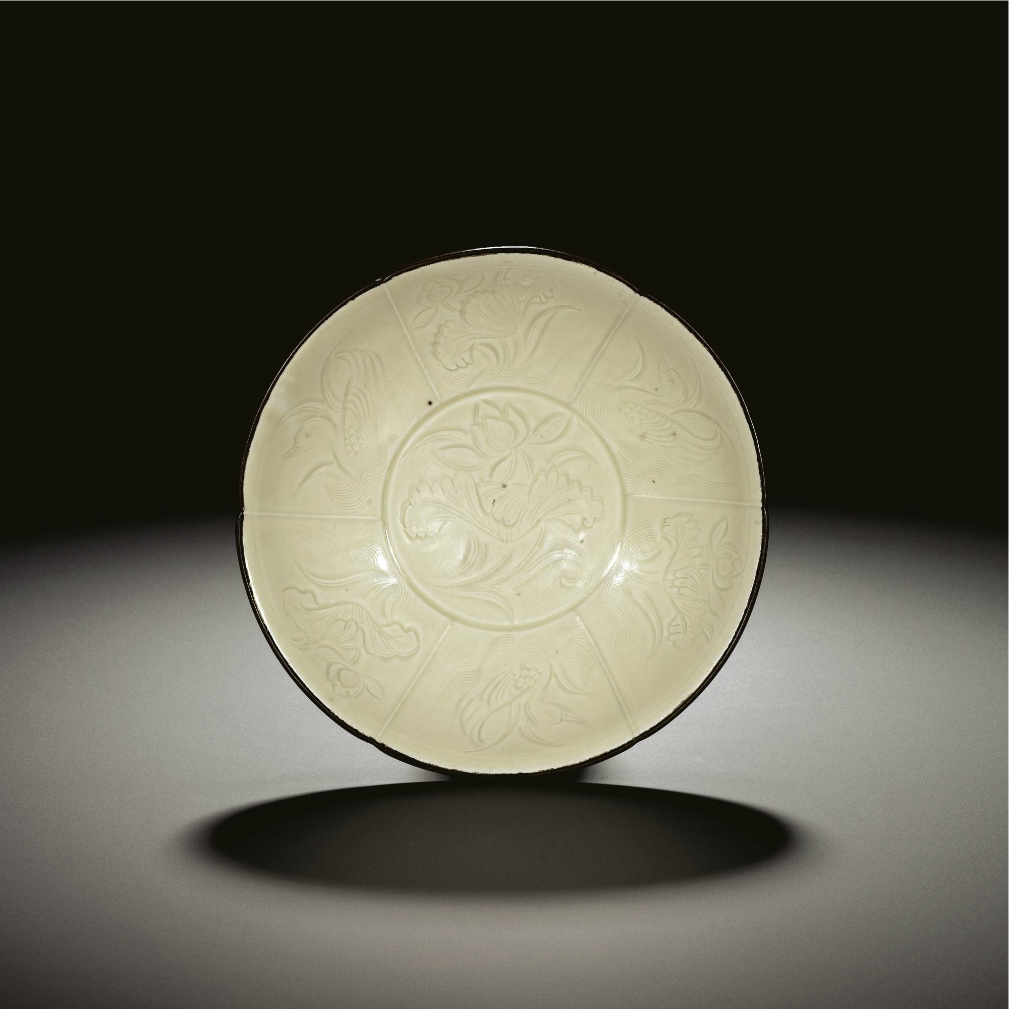 A fine and rare 'Ding' lobed bowl, Northern Song dynasty