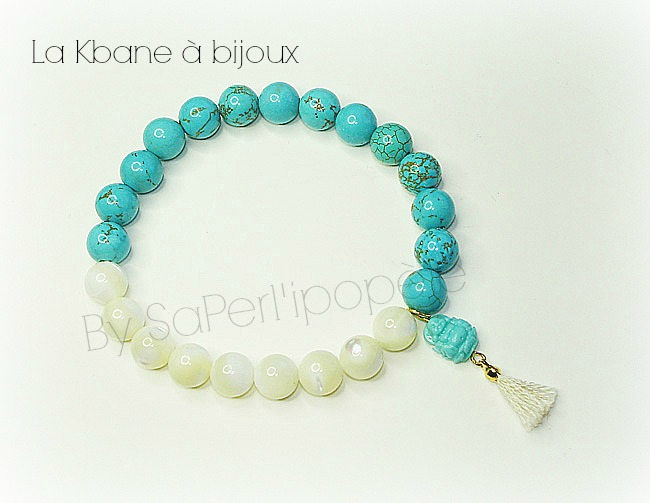 turquoise recomposee et nacre