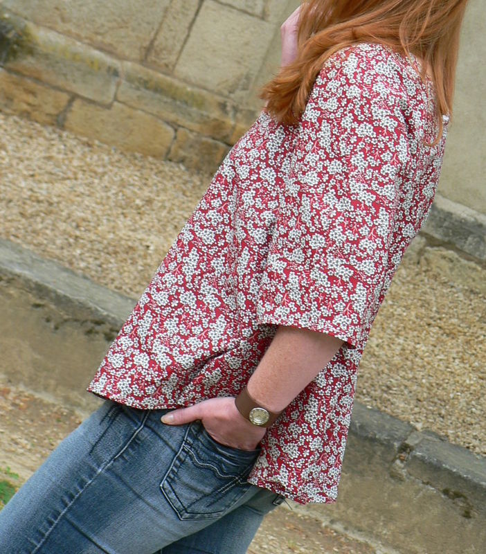 Blouse recto verso version rouge