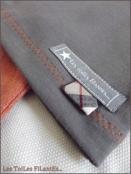 Pantacourt rouille et tee-shirt plomb1