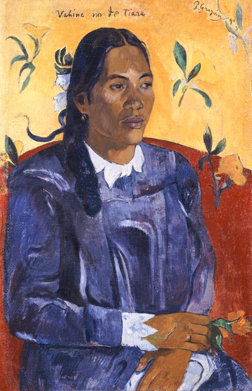 Tahitian Woman with a Flower, 1891, Paul Gauguin, MIN 1828