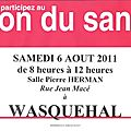 participez au don du 6 aout 2011