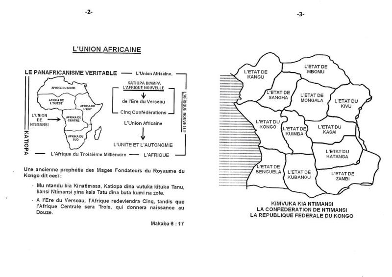 LE MESSAGE DU LEADER DE LA RACE BANTU D'AFRIQUE CENTRALE b