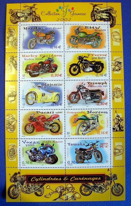 Bloc de timbres français