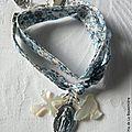 Bracelet de l'Annonciation sur ruban double tour (Eloïse bleu)
