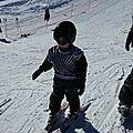 1ere fois sur les skis !