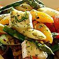 Salade de pennes aux poivrons et au fromage
