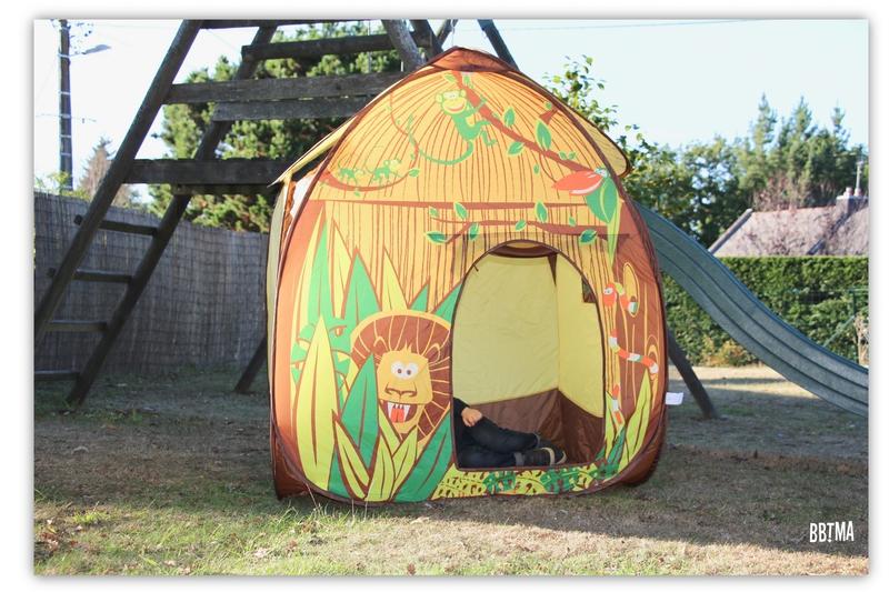 3 Tente pop up jungle ludi jardin extérieur jouet maison enfant jeux toile bbtma blog parents efluent5