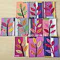 Cartes textiles en mode récup