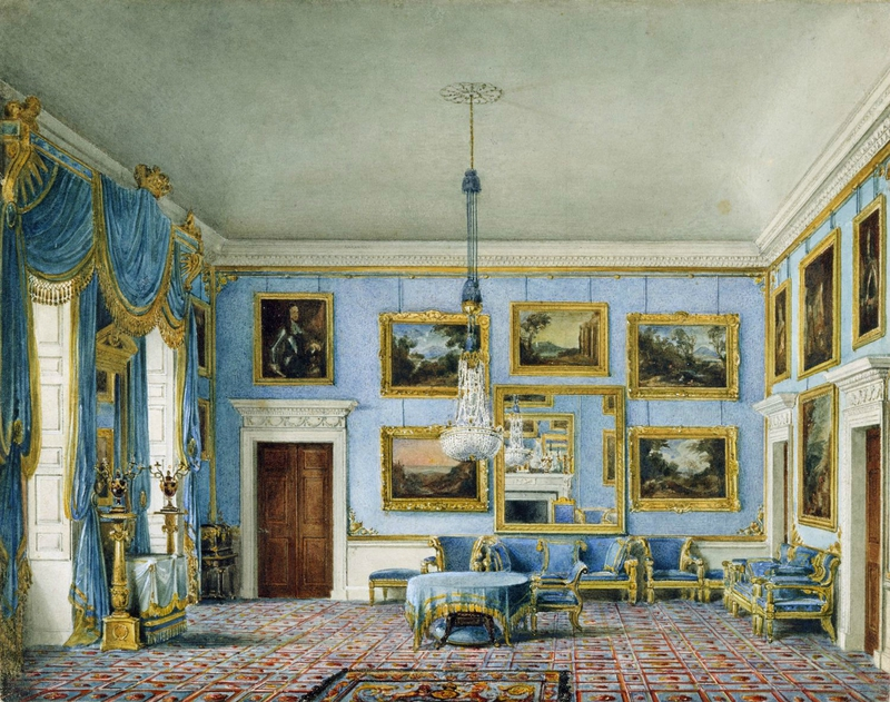 Buckingham_House,_Blue_Velvet_Room,_by_Charles_Wild,_1817_-_royal_coll_922144_257074_ORI_0
