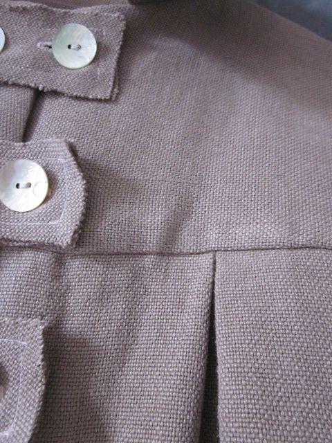 Manteau d'été en lin rose buvard (7)