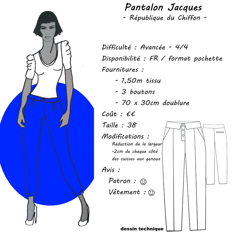 Fiche Technique - Pantalon Jacques - RDC