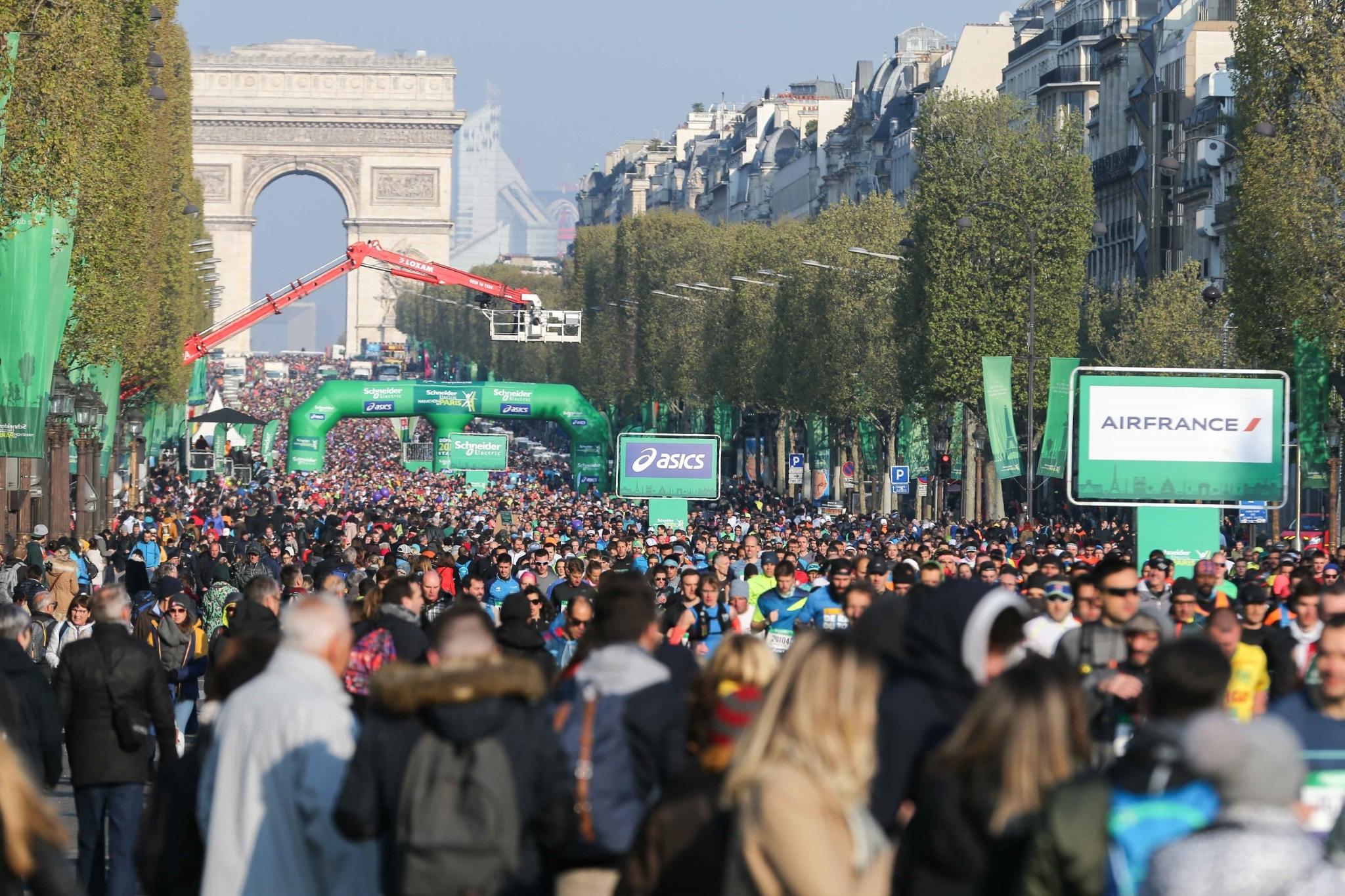 19 155 participants au Marathon de Paris 2019. © Michel Stoupak. Dim 14.09.2019, 08h00m15.