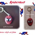 porte-clefs SPIDERMAN fimo