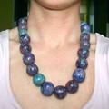 collier bleu et turquoise -