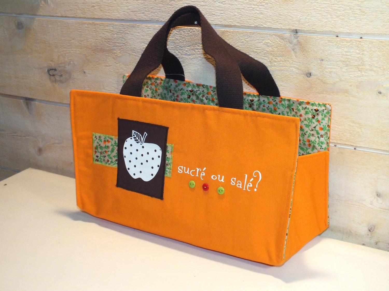 sac a cake mamz'elle Parisette orange