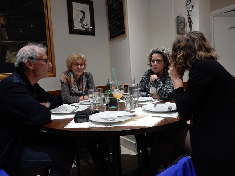 Dîner à la Pizzéria Amalfi avec Dominique Mas (à d