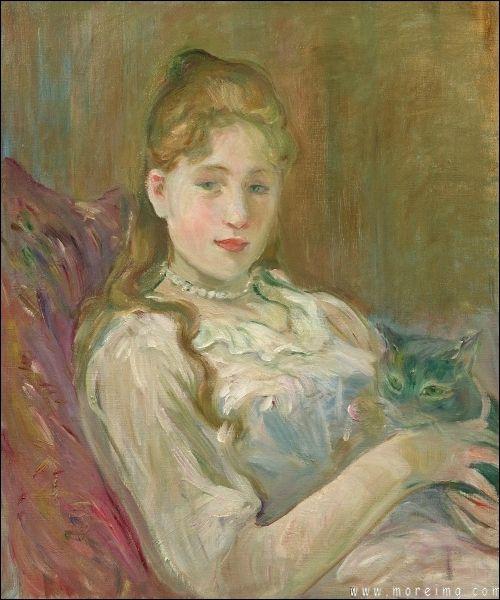 Berhe Morisot La jeune fille au chat 1892
