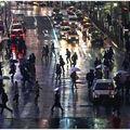 Shibuya sous la pluie vendredi soir. ça n'a pas