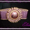 bracelet rose crystal burst