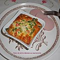 Flans de petits légumes au mascarpone