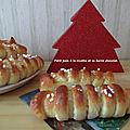 Petit pain à la ricotta et sa barre de chocolat